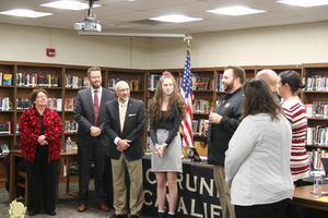 Elizabeth Norris-Honored by Board of Education