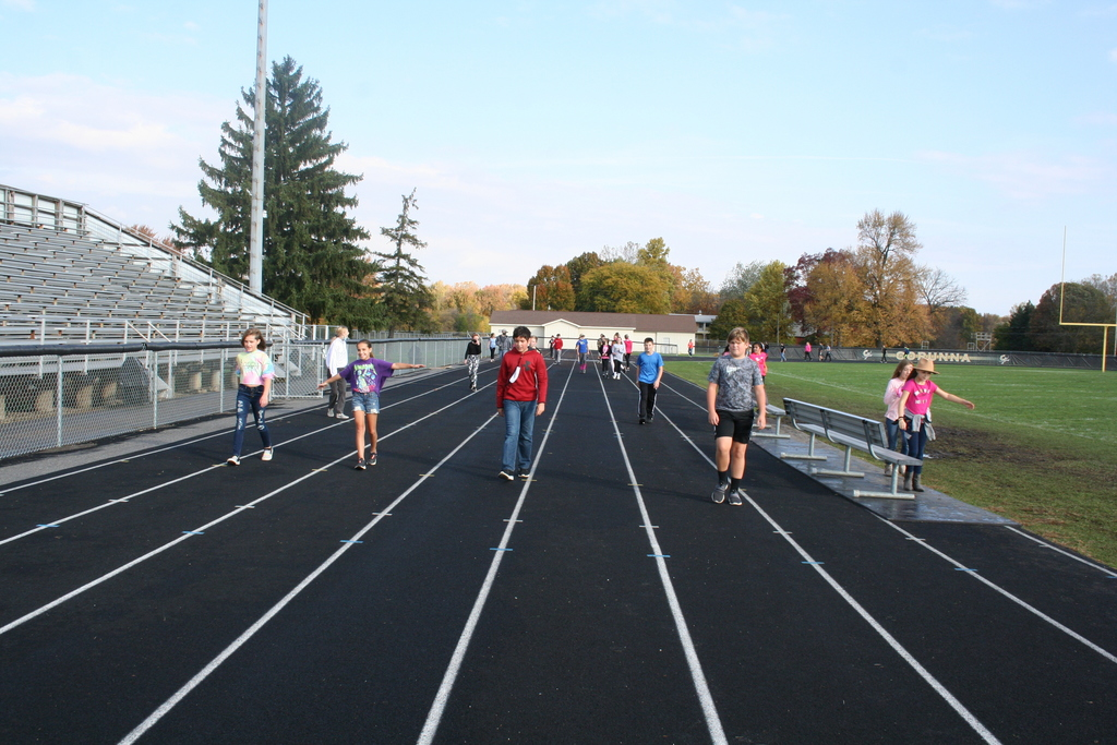 Students Walking on Track