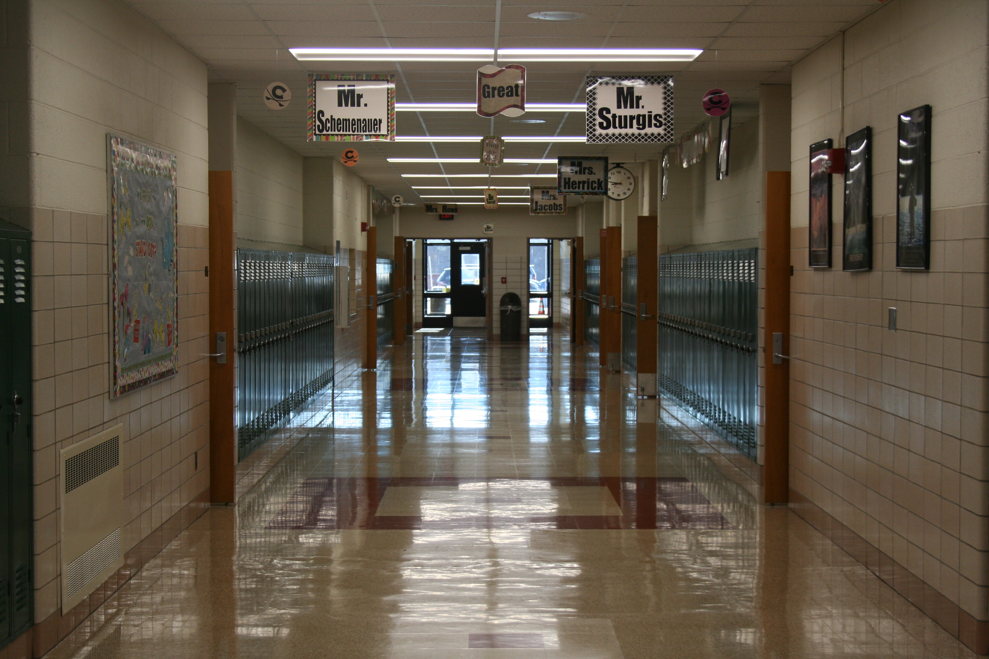 Shinny Hallways Welcome Students at CMS